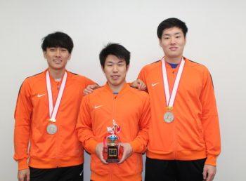広川選手、久保選手、中村選手の写真