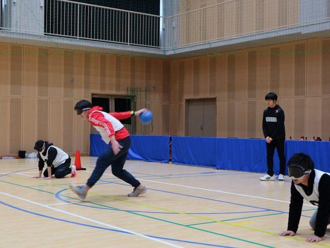 ゴールボール競技中の写真