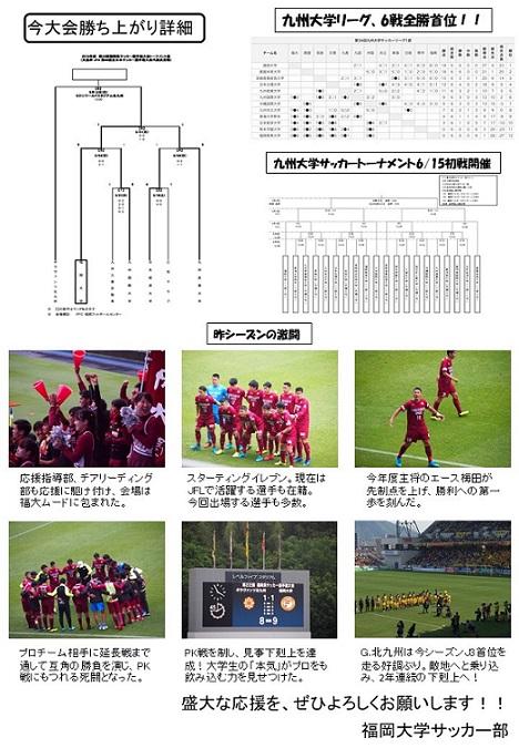 天皇杯福岡県大会決勝のチラシ画像(裏)