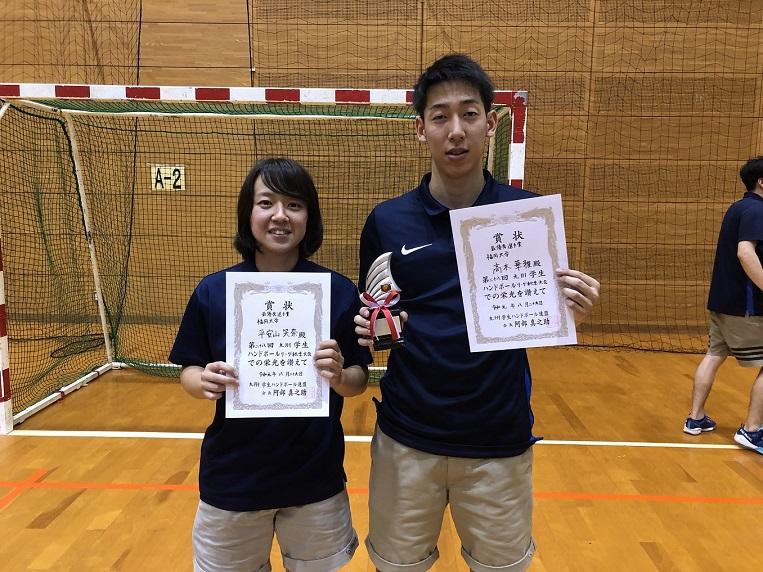 平安山選手、高木選手の写真