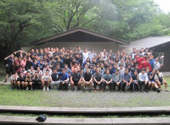 キャンプ実習様子の写真