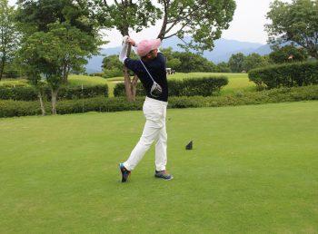 ゴルフ実習様子の写真